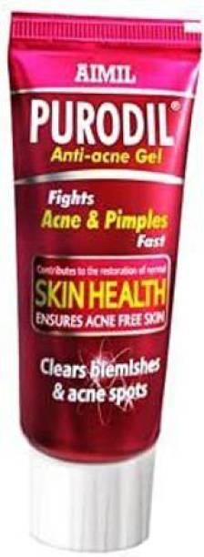 AIMIL Purodil Organic Anti Acne Cream Gel & Pimple Face Gel with Neem, Tulsi & Aloe Vera