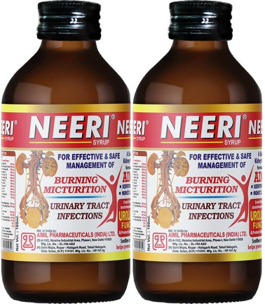 AIMIL NEERI Syrup for Kidney Health | Useful in Urinary Tract Infections (UTI) (Pack of 2)