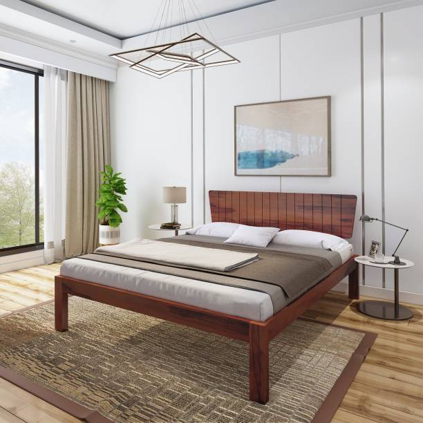 Flipkart Perfect Homes Contemporary & Modern Solid Wood Queen Bed
