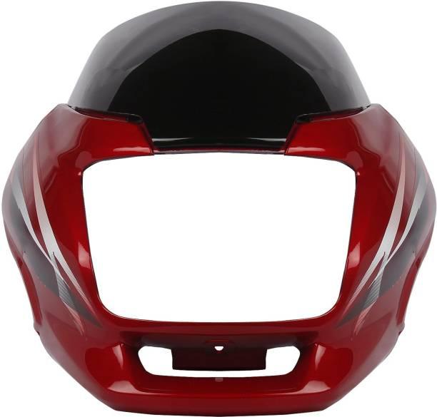shiv ambika Superior Quality RED Headlight Visor for SUPER SPLENDOR New Model with Wisor Glass (RED) Bike Headlight Visor