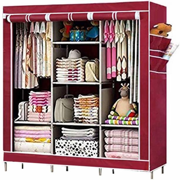MS MODSTYLE 6+2 Shelves 3 door 88130 PP Collapsible Wardrobe