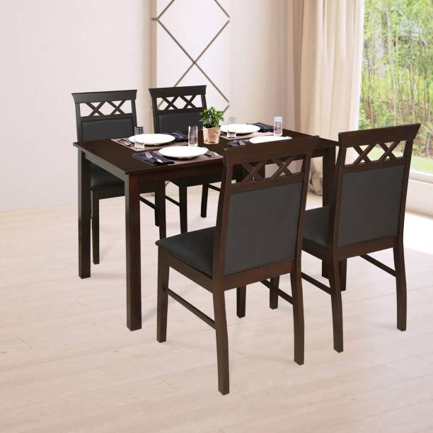 @Home by nilkamal Mauna Solid Wood 4 Seater Dining Set