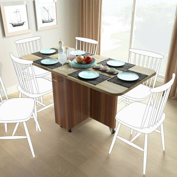 Studio Kook Abba Engineered Wood 6 Seater Dining Table