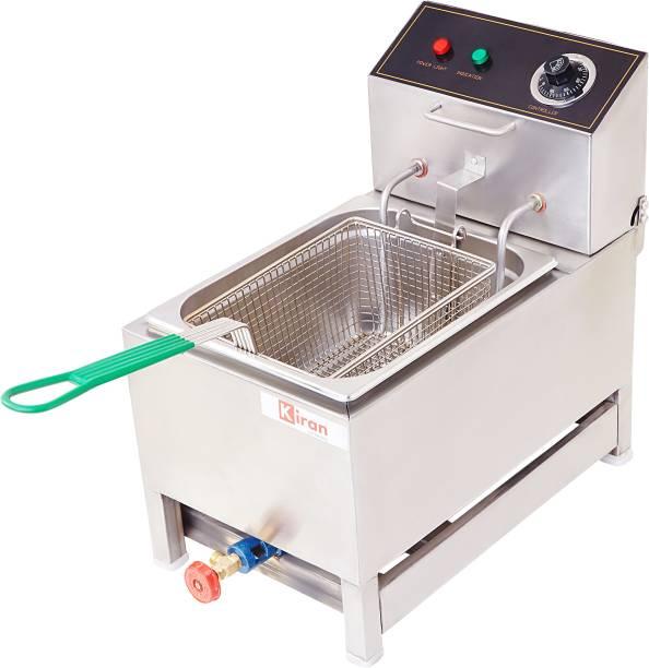 kiran 8 Liter Deep Fryer- Electric & Gas - 8 L Electric Deep Fryer