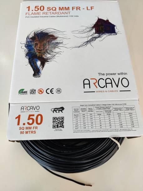 arcavo FIRE RETARDANT PVC INSULATED 1.5 sq/mm Black 200 m Wire
