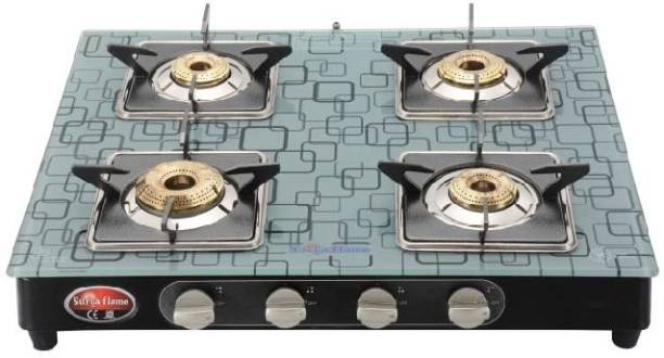 Suryaflame 4B Ultra MS NA (ISI MARKED CE MARKED) and Doorstep Service Gas Stove Steel Manual Gas Stove