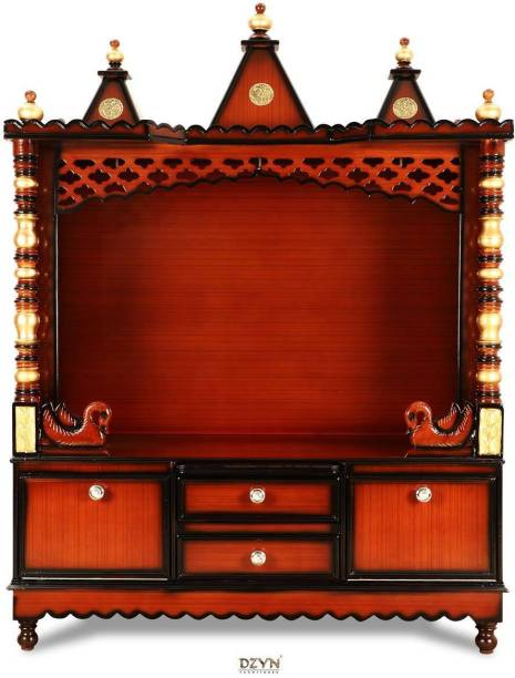 DZYN FURNITURES Wooden Temple without Door Solid Wood Home Temple