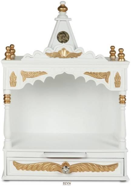 DZYN FURNITURES Divya Prakostha Pooja Mandir Solid Wood Home Temple
