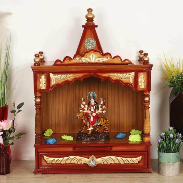 DZYN FURNITURES Divya Prakostha Solid Wood Home Temple