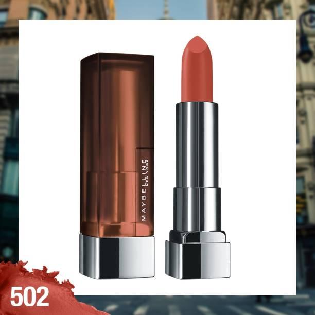 MAYBELLINE NEW YORK Color Sensational Creamy Matte Lipstick, 502 Beige Appeal, 3.9g