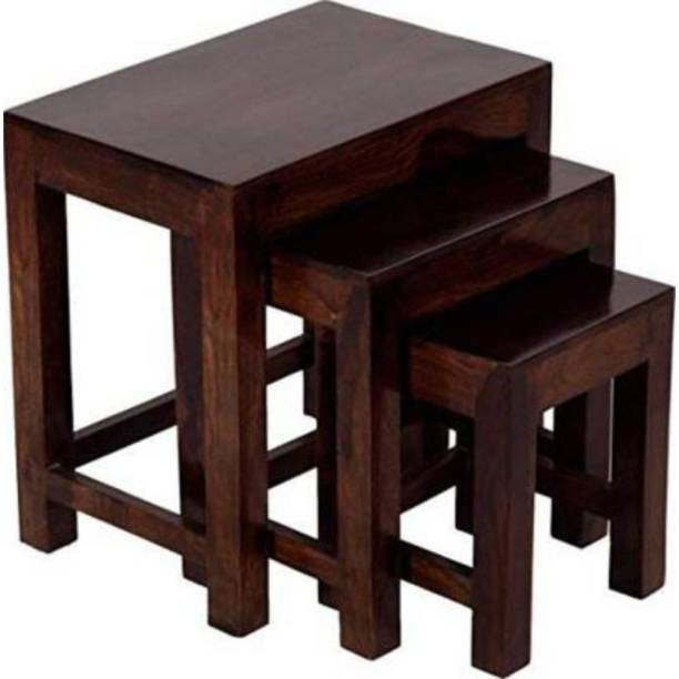 MEHAR Solid Wood Nesting Table