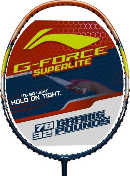 LI-NING G-Force 3800 Superlite Blue, Brown Unstrung Badminton Racquet