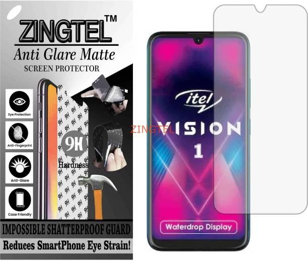 ZINGTEL Tempered Glass Guard for ITEL VISION 1 (Matte Flexible Shatterproof)