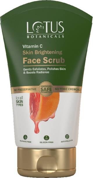 Lotus Botanicals Vitamin C Skin Brightening Face Scrub - 100g Scrub
