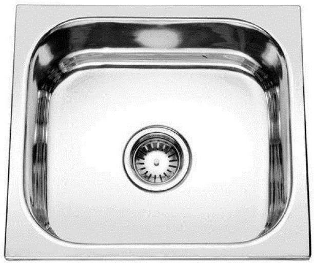 Prestige (18x16x8 inch) 'Oval single bowl' Stainless steel Chrome Finish kitchen sink with Waste Coupling , Vessel Sink
