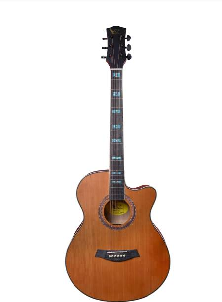 swan7 40C Semi-Acoustic Guitar -Natural Matt Maven Series with Equalizer Semi-acoustic Guitar Spruce Rosewood Right Hand Orientation
