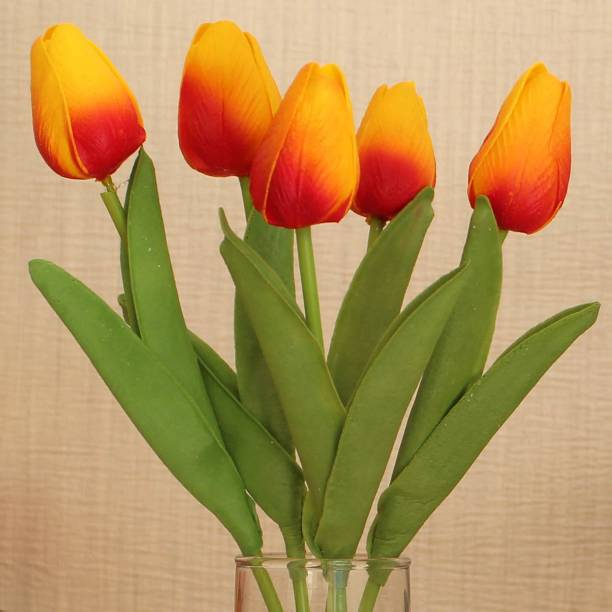 TIED RIBBONS Multicolor Tulips Artificial Flower