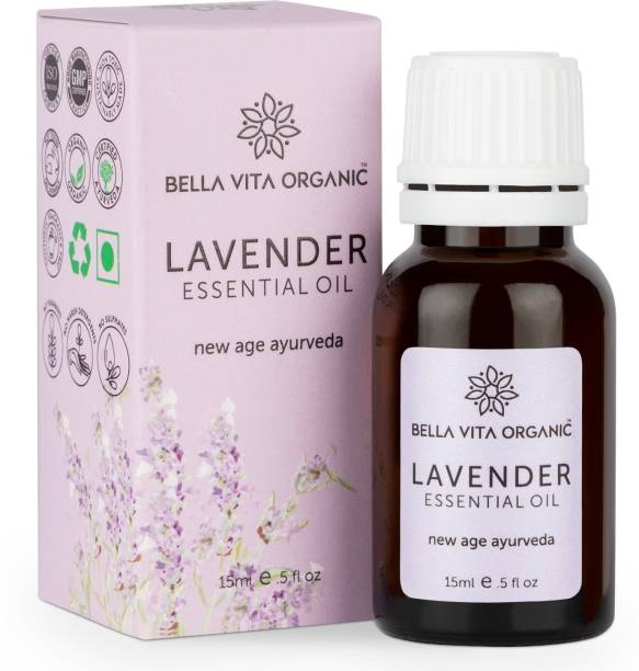 Bella vita organic Lavender Essential Oil For Skin & Hair Care Natural Can be Used as Fragrance Oil, Mixed with Beauty Products, Aromatherapy and Home Candle Soap Making