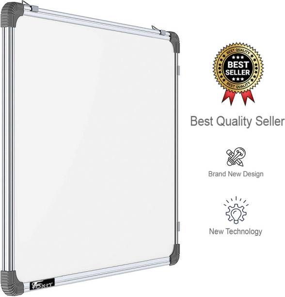 Foxit Non Magnetic Whiteboard 2X2 ft one Side White Marker and Reverse Side Chalk Board Surface (White, Green) White board