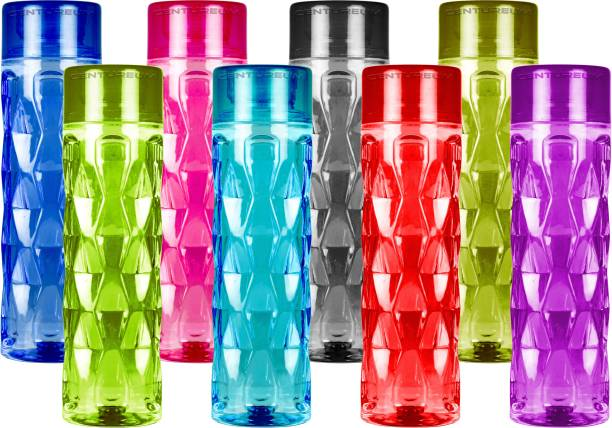 Centureum Diamond Shape Multi Color Fridge School College Water Bottles 1000 ml Bottle