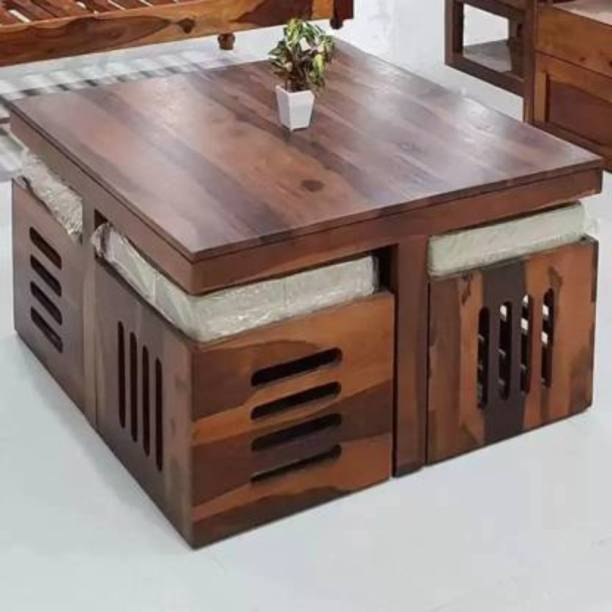 Credenza Wooden Center Table Tea Table for Living room Furniture Wooden Center Table Tea Table With 4 Stool Solid Wood Coffee Table
