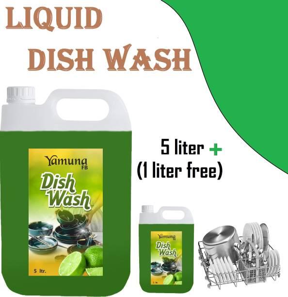 yamuna fb 5+1(free) liter green lemon Dish_washing_bar Liquid Detergent ( 6 liter) Dishwash Bar