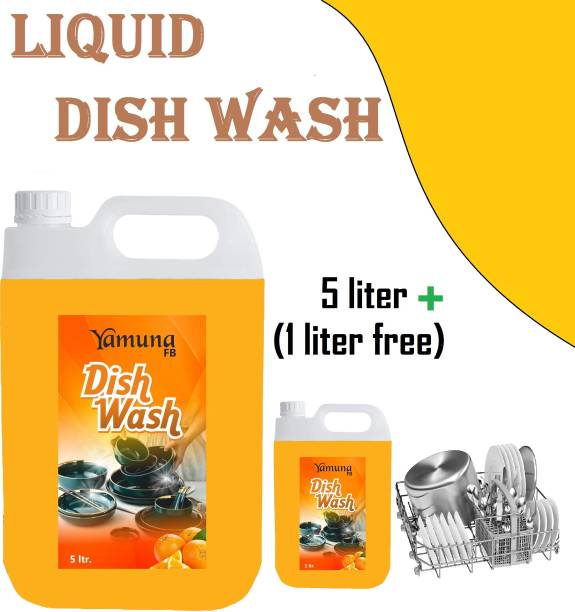yamuna fb 5+1 liter orengr Dish_washing_bar Liquid Detergent ( 6 liter) Dishwash Bar