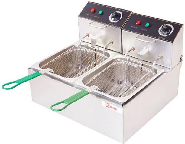 kiran 8 Liter double Pan Deep Fryer- Electric - 16 L Electric Deep Fryer
