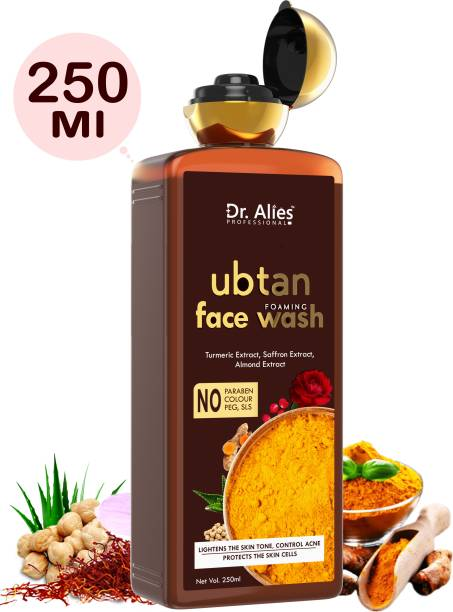 Dr. Alies Professional Ubtan  with Chickpea Flour, Turmeric, Saffron, Almond Extract, Rose Water & Sandalwood Oil- All natural for men and women Face Wash