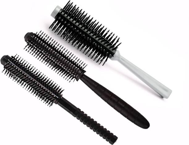 GRADEPLUS Round Roller Hair Brush( Pack of 3)..