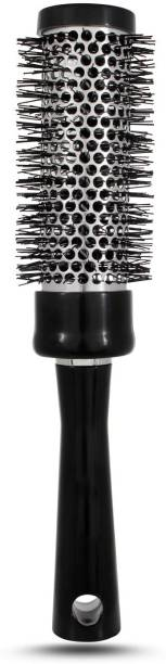 GRADEPLUS Professional Round Brush for Blow Drying with Natural Boar Bristle, Round Brush (B35)