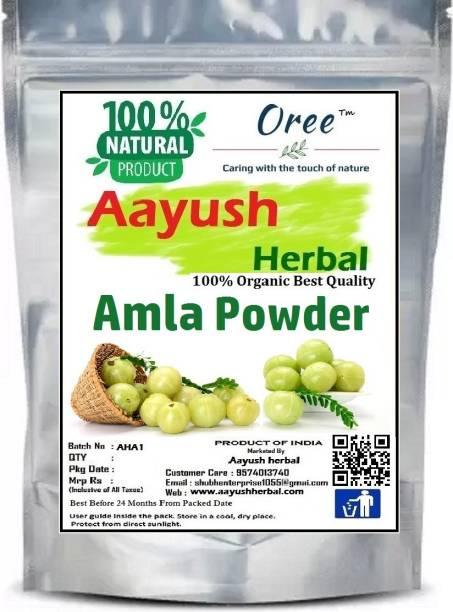 Aayush herbal 100% Pure & Natural Amla Powder for Face, Hair Care & Scalp Treatment, 100gm