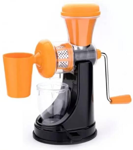 MYYNTI Plastic Hand Juicer Deluxe Fruit & Vegetable Manual Juicer with Steel Handle