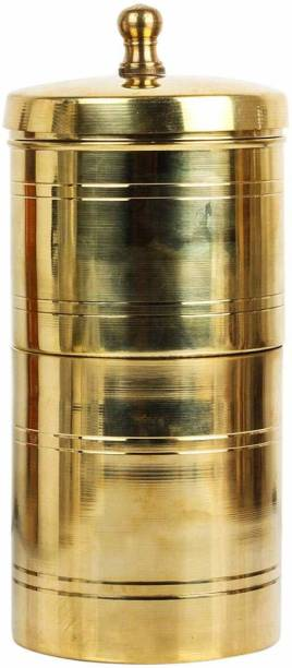 VAMSY Traditional Filter Coffee Maker, Brass, South Indian Drip Sytle Decoction Liquid Maker, Coffee Filter Vessel, Utensil, Kumbakonam Degree Coffee Filter for Home Use SIZE 1, 150 Ml , Ideal for 2 to 3 Cups Coffee Indian Coffee Filter
