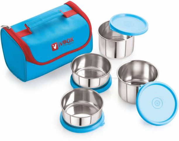 iVBOX ® Pro-Executive Stainless Steel Container Food Lunch Box Tiffin, Set of 4 4 Containers Lunch Box