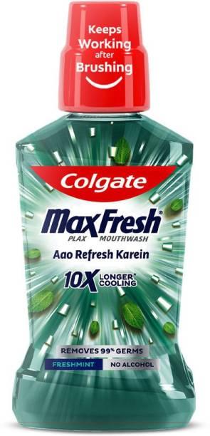 Colgate MaxFresh Plax Antibacterial Mouthwash - Fresh Mint