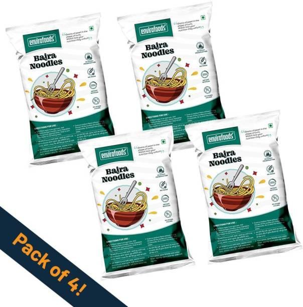 envirofoods Instant Bajra Noodles Pack of 4 Instant Noodles Vegetarian