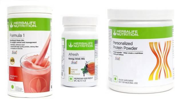 Herbalife Nutrition FORMULA1STRAWERRY + TULSI + P.P.200G.M. Protein Shake