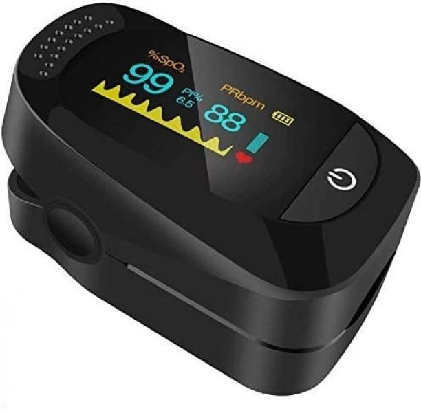 MCP Black Pulse Oximeter, Finger Pulse Oximeter with OLED Display, Pulse Oximeter Fingertip, Blood Oxygen Saturation Monitor Finger, Heart Rate Monitor for Adult Child Pulse Oximeter