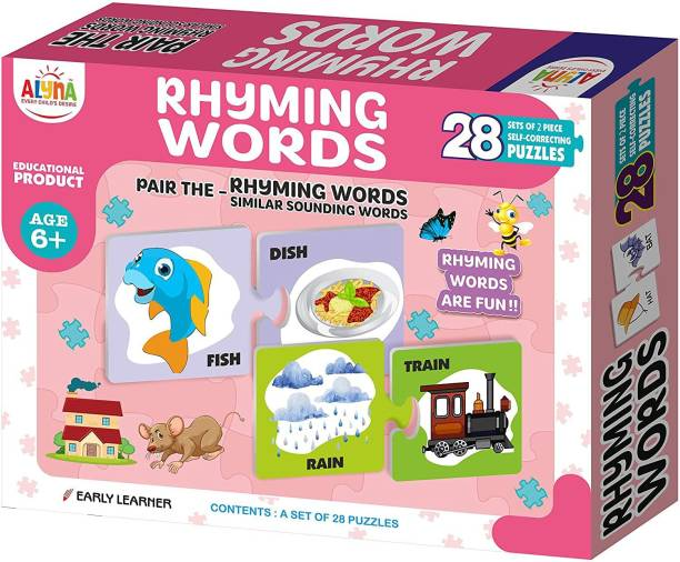 Ankit Rhyming Word's Puzzle for Kids and Educational Jigsaw Puzzle