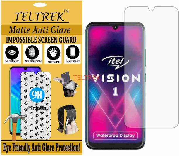 TELTREK Tempered Glass Guard for ITEL VISION 1 (Matte Flexible Shatterproof)