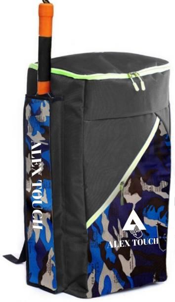 ALEXTOUCH Cricket Kit Duffle Bag XL Size With Heavy Duty Nylon Fabric (BLUE BLACK USA PRINT)