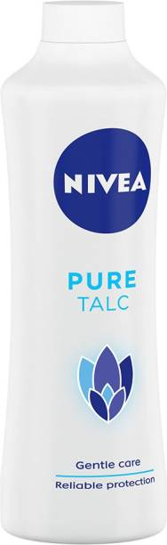NIVEA Talcum Powder for Men & Women, Pure, For Gentle Fragrance & Reliable Protection against Body Odour,