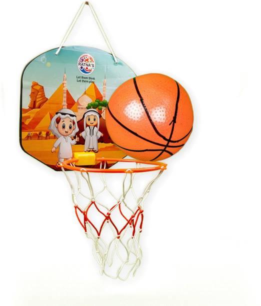 RATNA'S Cartoon Basketball Desert theme indoor & outdoor basketball toy for kids. Basketball