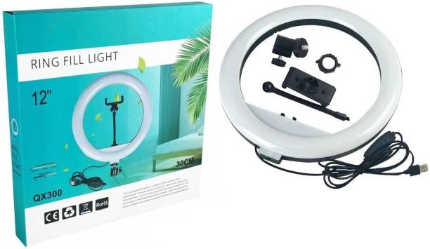 FKU Professional QX300 LED SELFIE FLASH RING LIGHT FOR VIDEO AND PHOTOGRAPHY Tripod Bracket