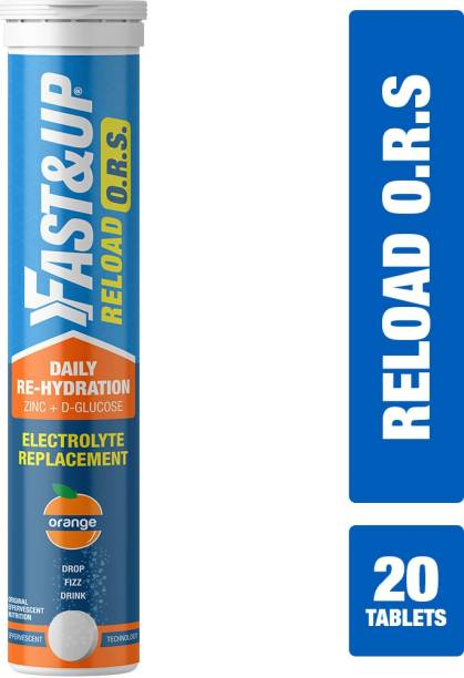 Fast&Up Reload ORS Electrolytes With Zinc & D-Glucose Effervescent Tablets - Fluid balance Hydration Drink