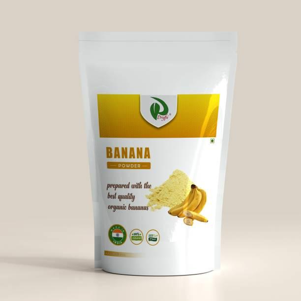 Dryfii Natural Organic Banana Powder for Babies (6+) Healthy Food ,Porridge, Adult Kid Cereal (500 G) Cereal