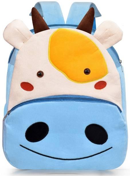 Seltos Kids Bags for School Nursery Picnic Carry Travelling Bag - 2 to 5 Age Baby Boys Girls Velvet Backpack Velvet KidS Plush Bag