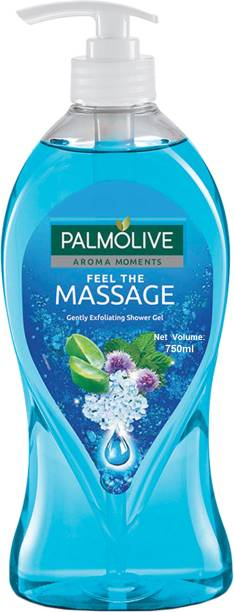 PALMOLIVE Feel The Massage Body Wash, Exfoliating Shower Gel with 100% Natural Thermal Minerals - pH Balanced, No Parabens, No Silicones (Pump)