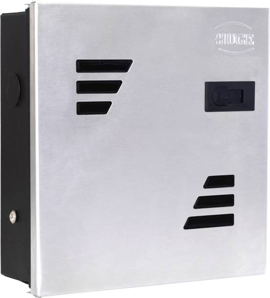 Huge 8 Way SPN MCB Box, Double Door MCB Distribution Board, Stainless Steel Distribution Board